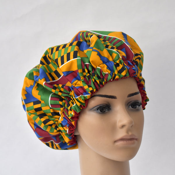 Satin lined Bonnet - Nyameye, Satin Bonnet - Rufina Designs