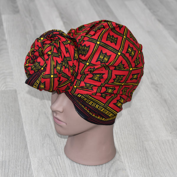 African Wax Print Head Wrap - Asesedwa