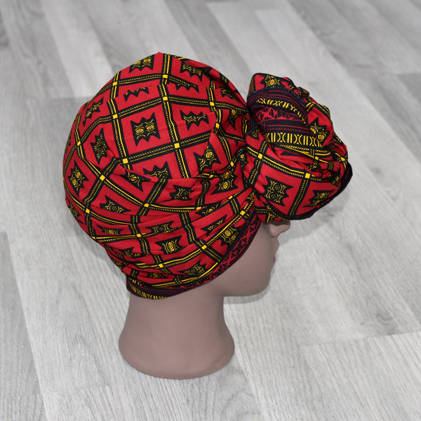 African Head Wrap - Red, Headwraps - Rufina Designs