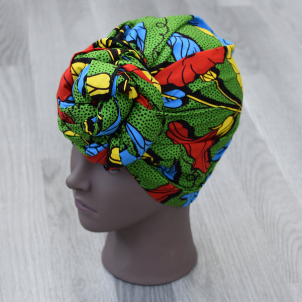 African Wax Print Head Wrap - Yvette, Headwraps - Rufina Designs