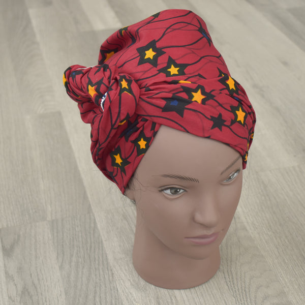 African Wax Print Head Wrap - Pebby, Headwraps - Rufina Designs