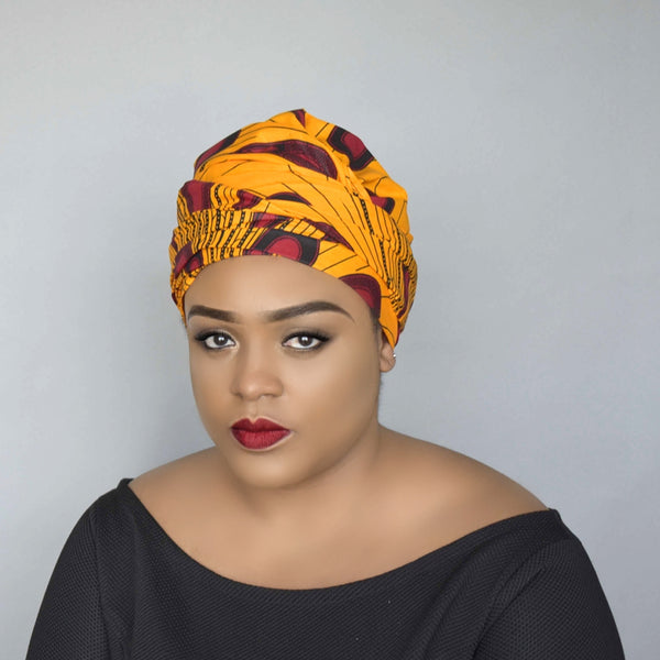 African Wax Print Head wrap - Esinam, Headwraps - Rufina Designs