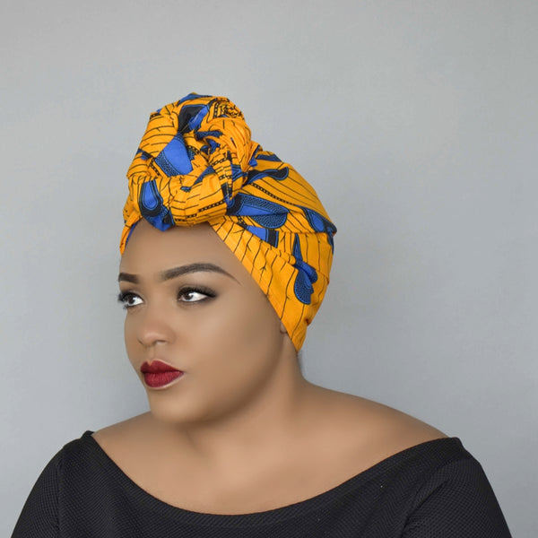 African Wax Print Head wrap - Eyram, Headwraps - Rufina Designs