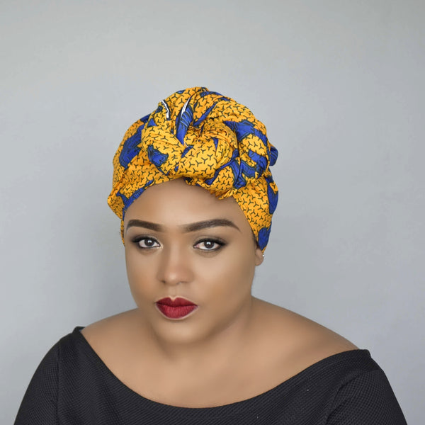 African Wax Print Head Wrap - Weeri, Headwraps - Rufina Designs