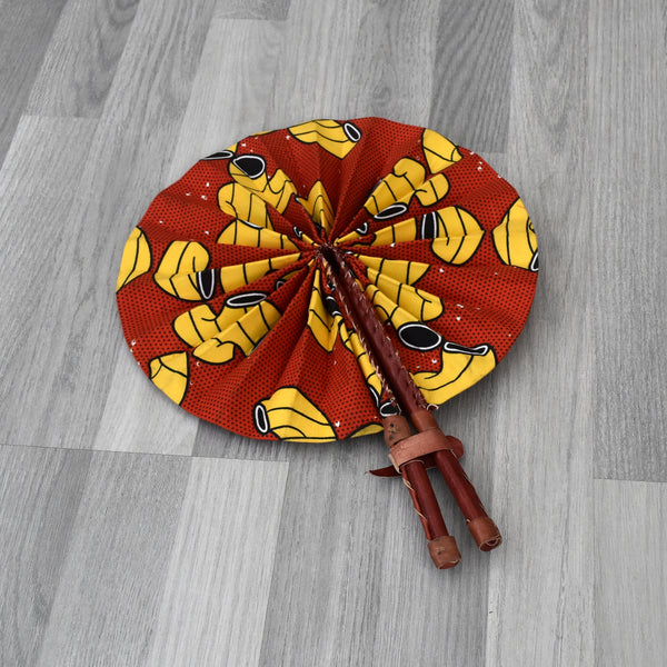 African Print Foldable Hand Fan - AP012, Hand Fans - Rufina Designs