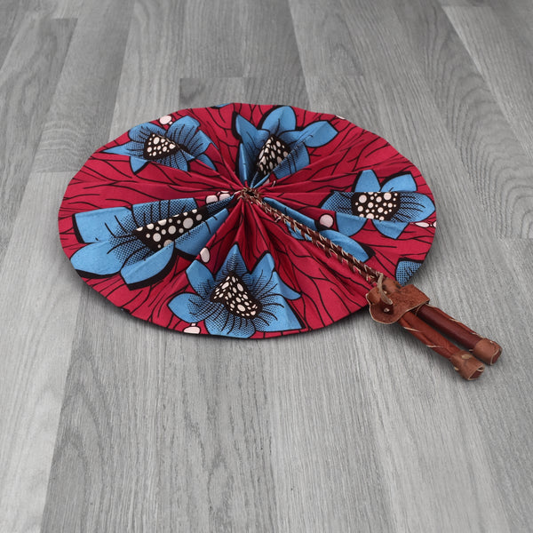 African Print Foldable Hand Fan - AP008, Hand Fans - Rufina Designs