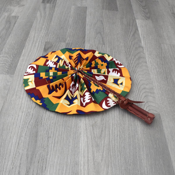 African Print Foldable Hand Fan - AP009, Hand Fans - Rufina Designs