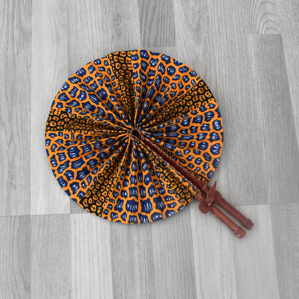 African Print Foldable Hand Fan - AP010, Hand Fans - Rufina Designs
