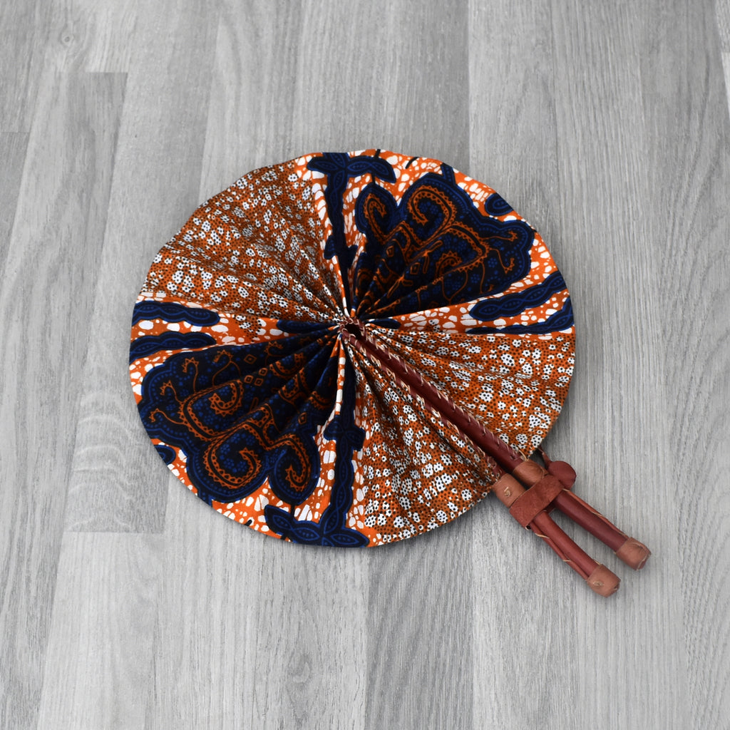 African Print Foldable Hand Fan - AP005, Hand Fans - Rufina Designs