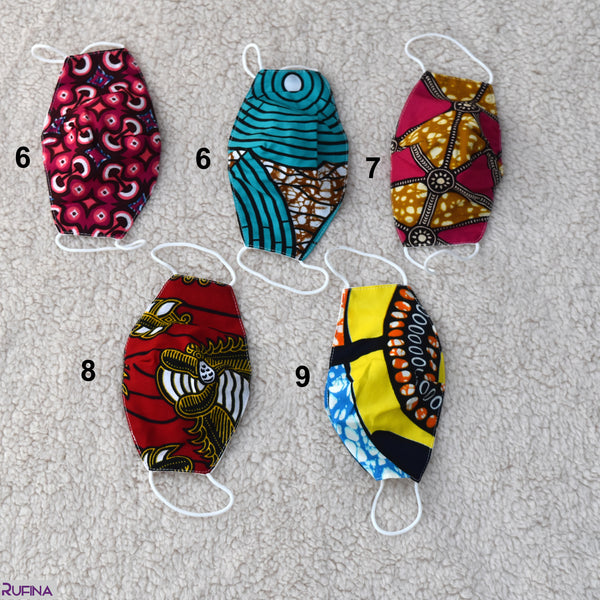 African Print Children Masks - 02