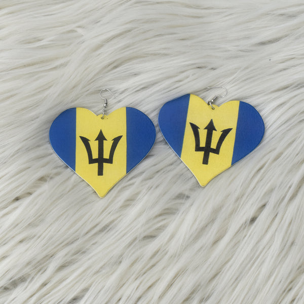 Barbados Flag Earring, earring - Rufina Designs