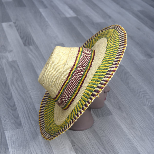 Sun hat, Bolga Straw Hat - BH001, Hats - Rufina Designs