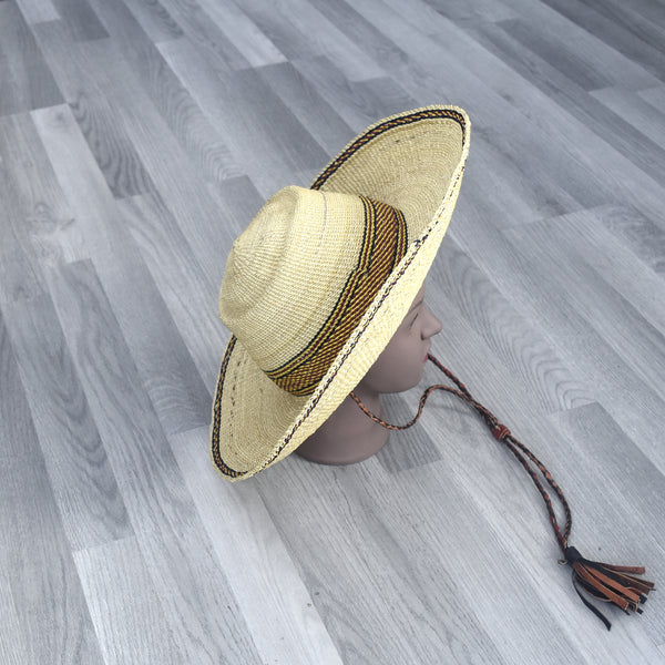 Sun hat, Bolga Straw Hat - BH004, Hats - Rufina Designs