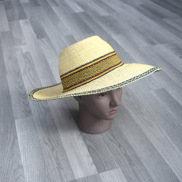 Sun hat, Bolga Straw Hat - BH003, Hats - Rufina Designs