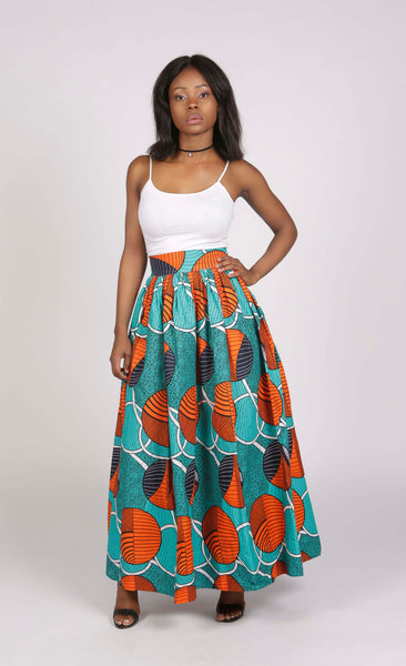 African Print High Waisted Skirt, Skirt, Rufina, [shop_name,- Rufina