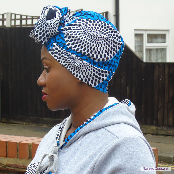 African Print Head wrap, Dreadlock Scarf Head Wrap - Adarku