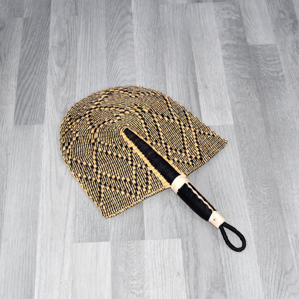 Straw Hand Fan, Bolga Fan - B016