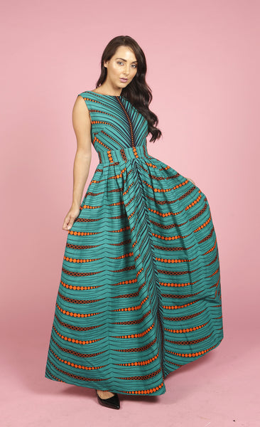Gina African print maxi dress, Dress, Rufina, [shop_name,- Rufina