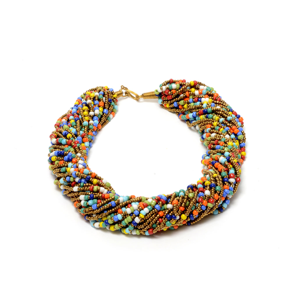 Multi Strand Beads Necklace - Camela, Necklace & Set - Rufina Designs