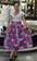 Donna Pink and Grey African Print Midi Skirt