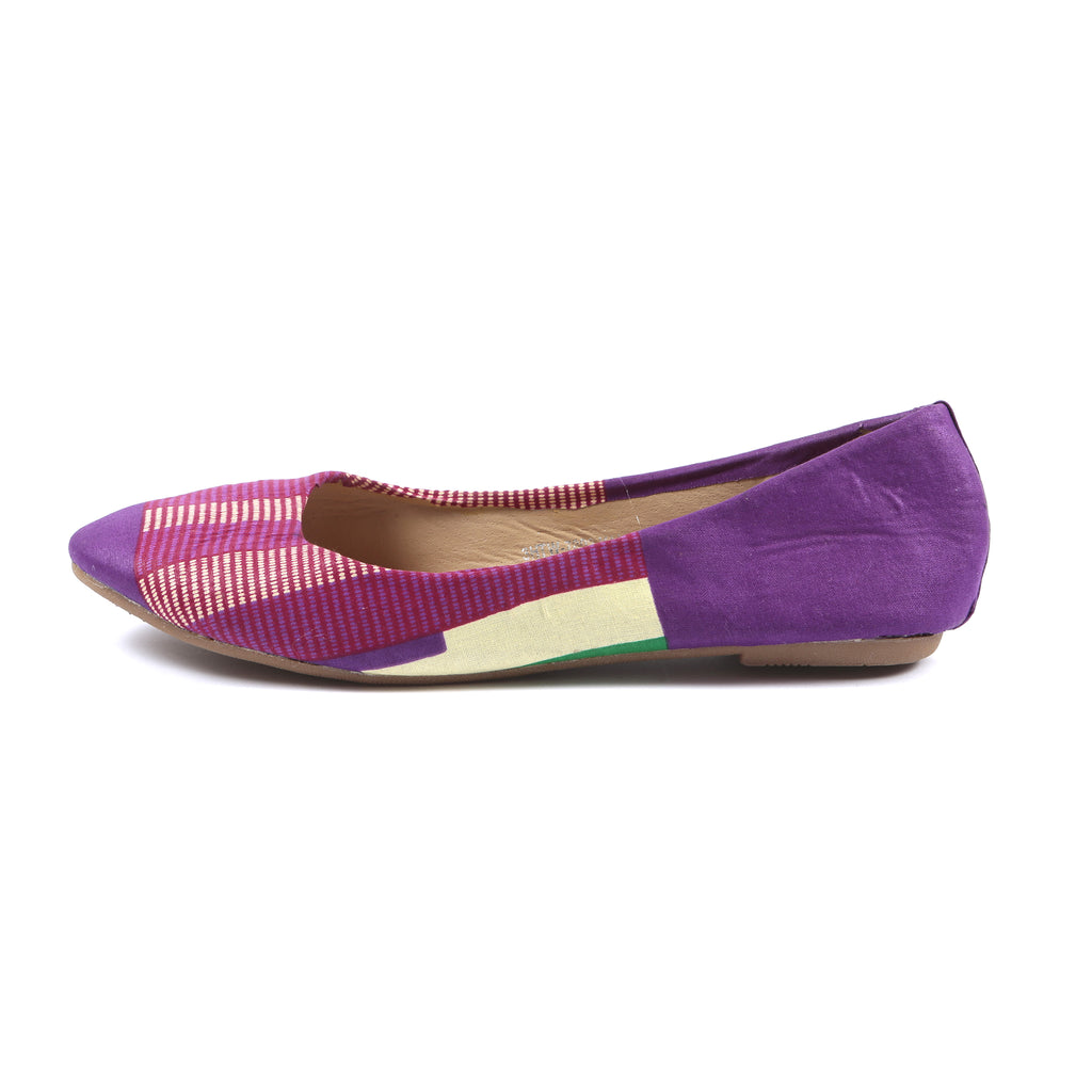 Pearl Kente Print Flat Shoe, , Rufina, [shop_name,- Rufina