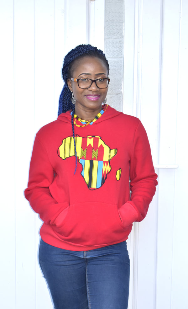 Supersoft African Print Hoodie, Top - Rufina Designs