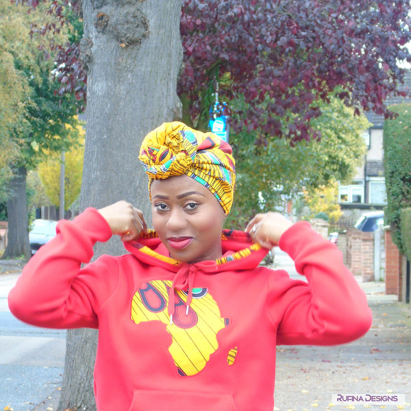 African Head Wrap - Oheneba, Headwraps - Rufina Designs
