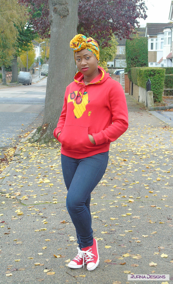 Supersoft Unsiex Red Hoodie - Hannifa, Top - Rufina Designs