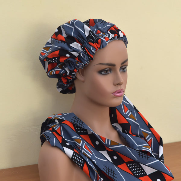 3-in-1 Satin Bonnet Headwrap - Seyram