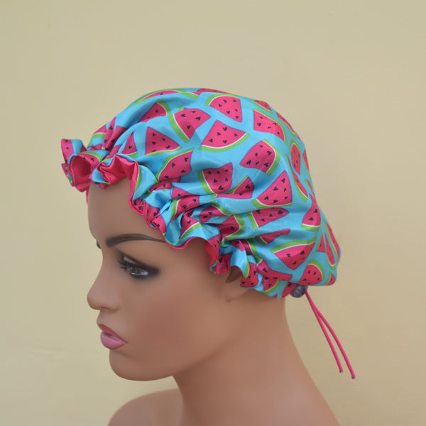 Reversible Satin Bonnet - Mummy & Me - Melon