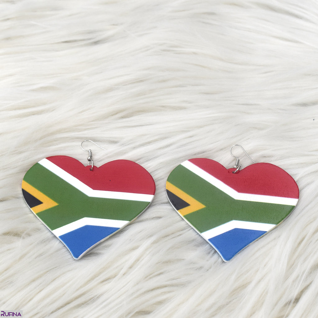 South African Flag Earring, earring - Rufina Designs