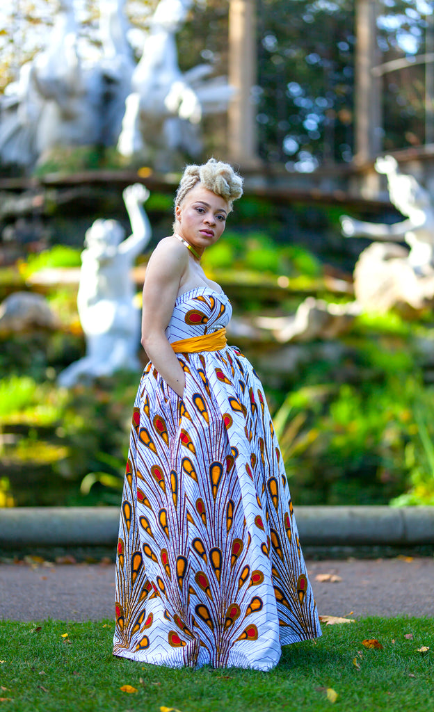 Christa African Print Maxi Dress, Dress - Rufina Designs