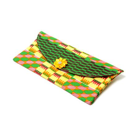 Abena Green Kente Envelope clutch purse, Bags & purse - Rufina Designs