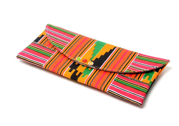 Efie Kente Envelope Clutch Purse, Bags & purse - Rufina Designs