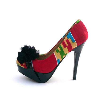 Maariya Kente Print platform shoes, High Heel - Rufina Designs