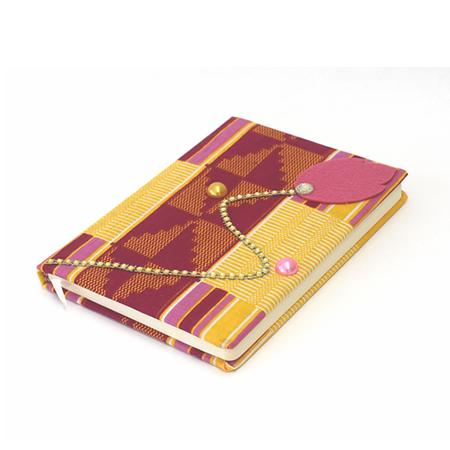 Pink Kente Journal, Journal & Diary, Rufina, [shop_name,- Rufina
