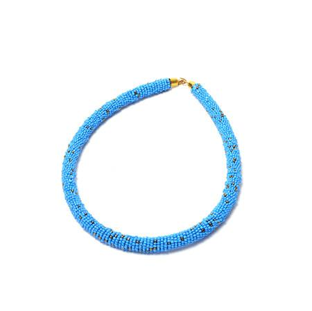 Saira African bead Rope Necklace, Necklace, Rufina, [shop_name,- Rufina
