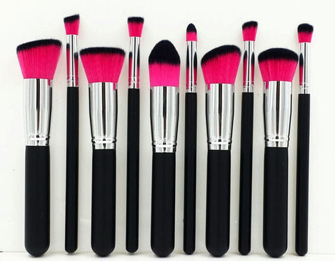 Black and bold chubby 10 piece brush set