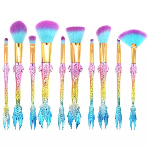 Rainbow Fantasy Fish Tails Brush Set