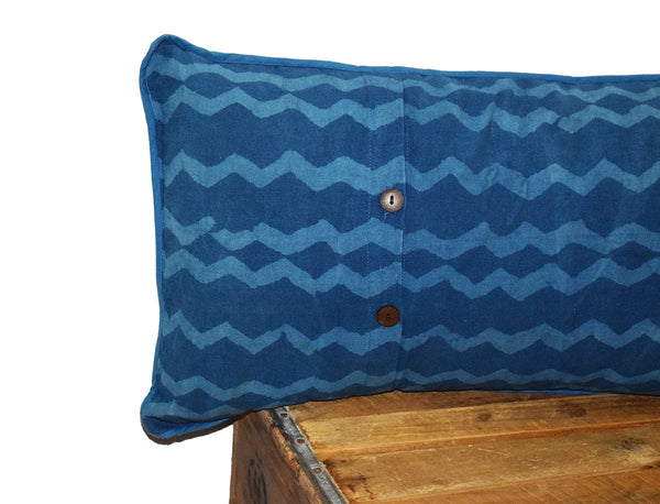 Cotton Lumbar Pillow | Geri Indigo