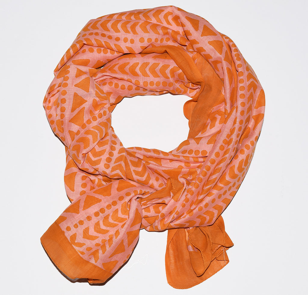 Cotton Silk Scarf | Goa Coral