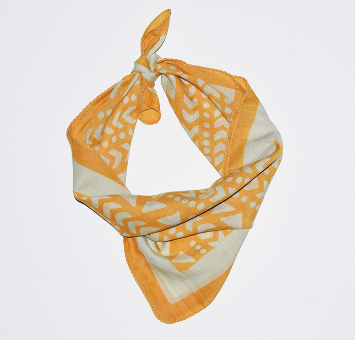 Cotton Silk Bandana | Goa Marigold