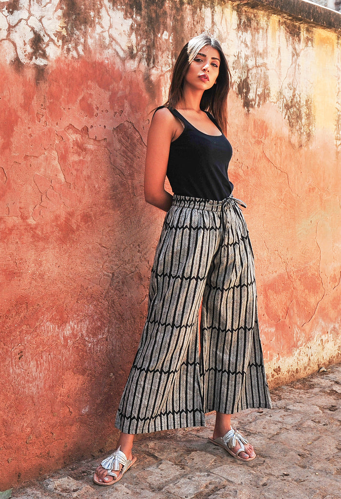 Wide Leg Pant | Aiko Black