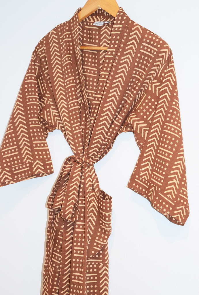 Kerala Long Robe | Terra Chestnut