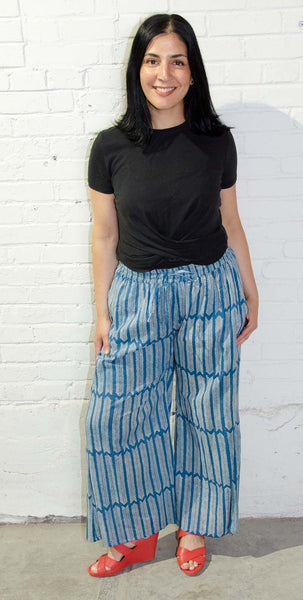 Wide Leg Pant | Aiko Midnight