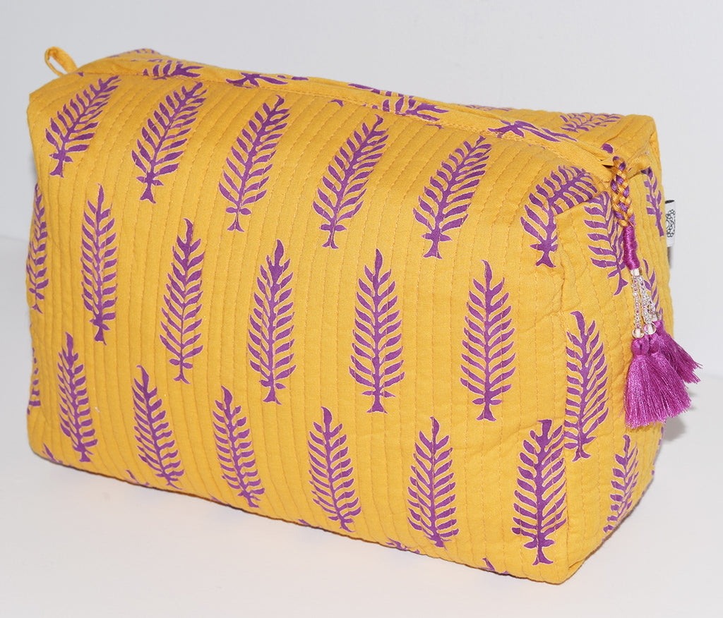 Large Cotton Toiletry Bag | Orissa Marigold