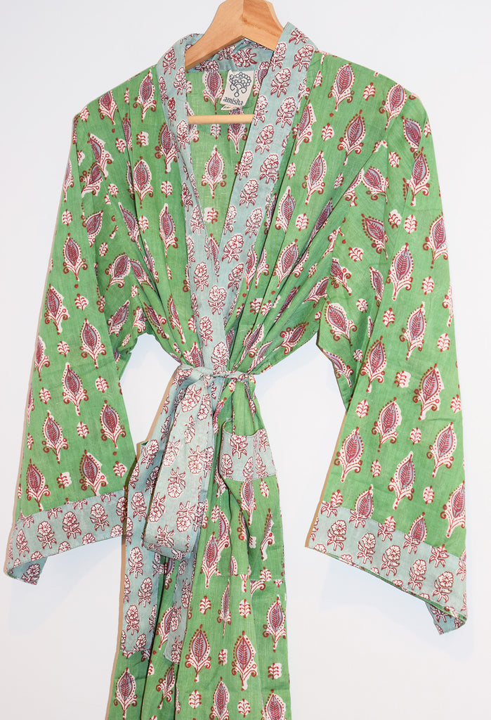 Jaipur Short Robe | Greenbriar