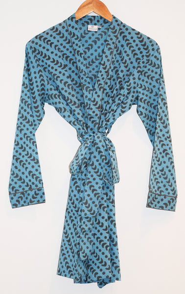 Austin Short Robe | Crescent Dot Azure