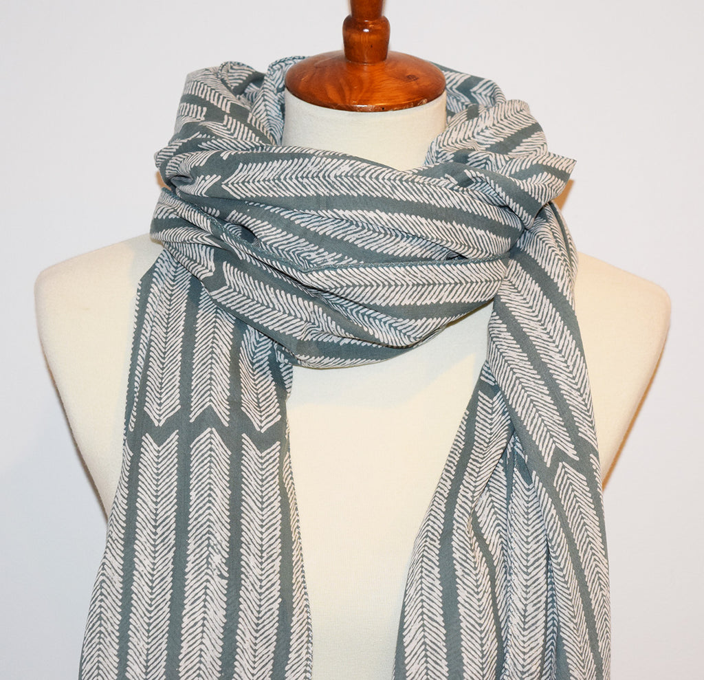 Cotton Voile Scarf | Aiko Gray