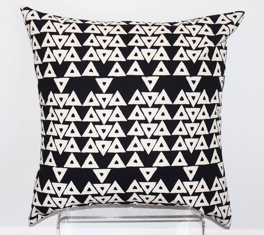 Cotton Floor Pillow | Anushka Black + White